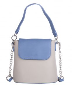 Geanta de dama Ella Icon Ivy, Gri/Bleu, 20x20x12 cm