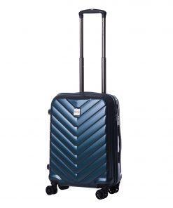 Troler Ella Icon Armor, Albastru, 55x39x24 cm, 51L, 4 roti spinner