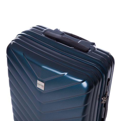 Troler Ella Icon Armor, Albastru, 67x45x27 cm, 81L, 4 roti spinner