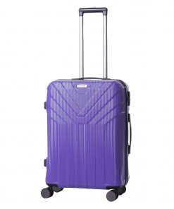 Troler Ella Icon Arrow, Mov, 66x42x28 cm, 77 L, 4 roti spinner