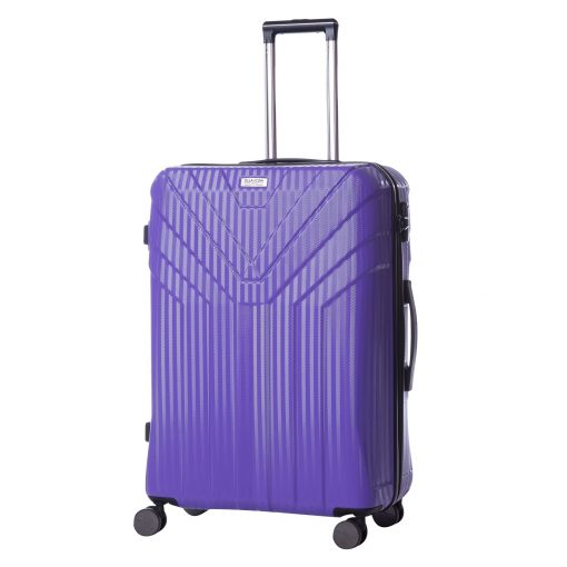 Troler Ella Icon Arrow, Mov, 76x49x31 cm, 115 L, 4 roti spinner