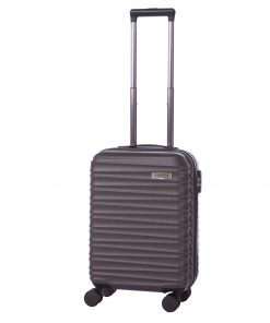 Troler Ella Icon Assign, Gri, 55x37x21 cm, 43 L, 4 roti spinner