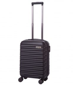 Troler Ella Icon Assign, Negru, 55x37x21 cm, 43 L, 4 roti spinner