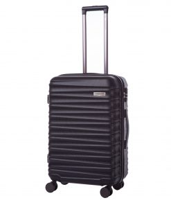 Troler Ella Icon Assign, Negru, 68x46x26 cm, 81 L, 4 roti spinner