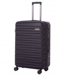 Troler Ella Icon Assign, Negru, 76x51x29 cm, 112 L, 4 roti spinner