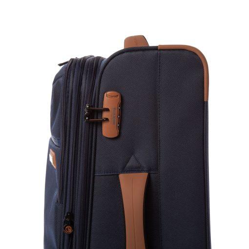Troler Ella Icon Atena, Albastru, 67x41x27 cm, 74 L, 4 roti