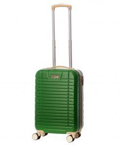 Troler Ella Icon Leaf, Verde, 55x35x22 cm, 46 L, 4 roti spinner
