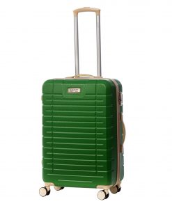 Troler Ella Icon Leaf, Verde, 66x42x28 cm, 77 L, 4 roti spinner