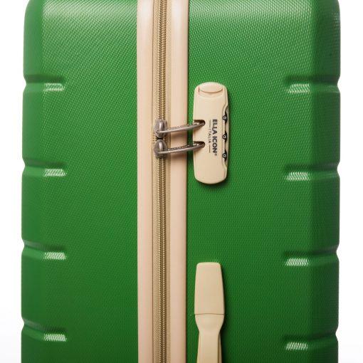 Troler Ella Icon Leaf, Verde, 76x49x31 cm, 115 L, 4 roti spinner