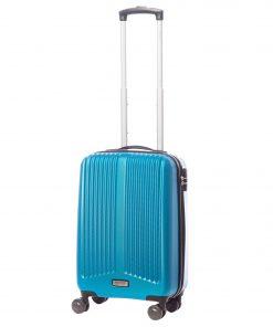 Troler Ella Icon Rainbow, Albastru, 55x35x24 cm, 46 L, 4 roti spinner
