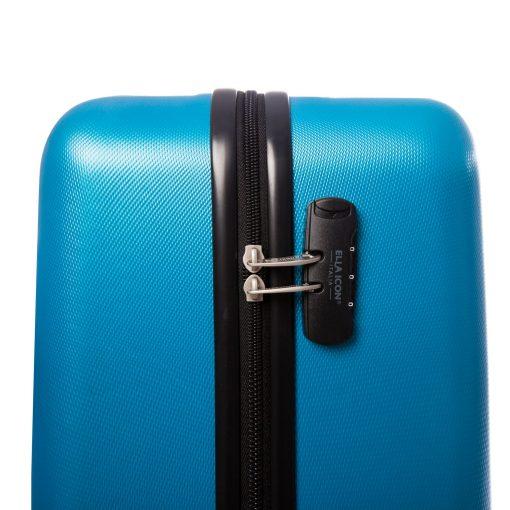 Troler Ella Icon Rainbow, Albastru, 65x42x28 cm, 76 L, 4 roti spinner