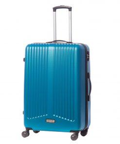 Troler Ella Icon Rainbow, Albastru, 75x49x30 cm, 110 L, 4 roti spinner