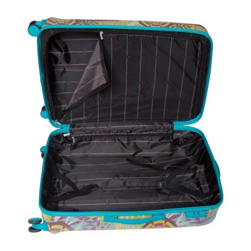 Troler Ella Icon Rio, Turqoise, 76x50x32 cm, 121 L, 4 roti spinner