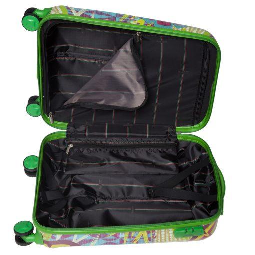 Troler Ella Icon Rio, Verde, 55x36x23 cm, 45 L, 4 roti spinner
